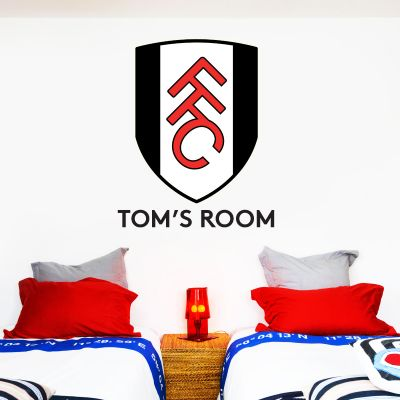 Fulham F.C. - Personalised Name & Crest Wall Sticker