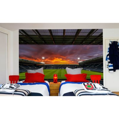 West Bromwich Albion FC - The Hawthorns Stadium Full Wall Mural Night Time Picture