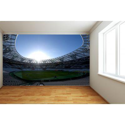 West Ham United FC - London Stadium Full Wall Mural Inside Stadium Dusk
