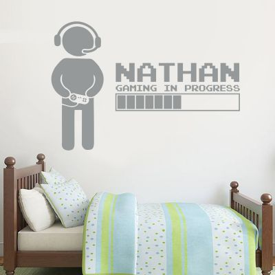 Gaming In Progress Personalised Wall Sticker