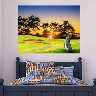 On The Green Sunset Wall Sticker