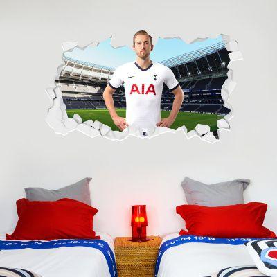 Tottenham Hotspur Football Club - Harry Kane Broken Wall Sticker + Spurs Wall Sticker Set
