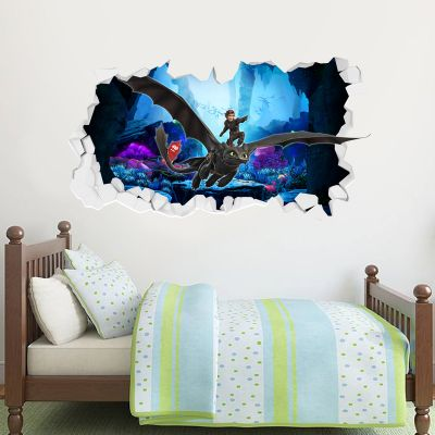 How To Train Your Dragon - Hiccup & Toothless Broken Wall Sticker