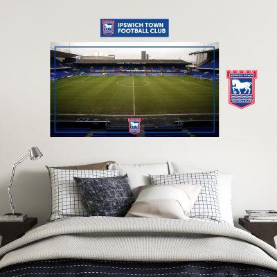 Ipswich Town F.C. - Portman Road Stadium + Blues Wall Sticker Set