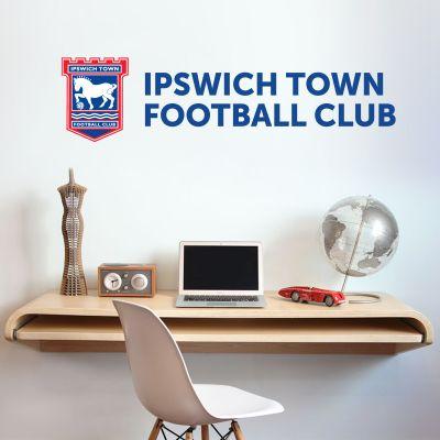 Ipswich Town F.C. - Crest & Club Name + Blues Wall Sticker Set