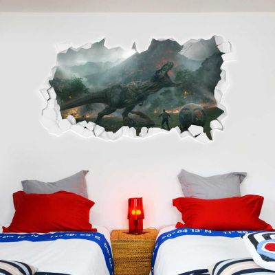 Jurassic World: Fallen Kingdom T-Rex Dinosaur Smashed Wall Sticker