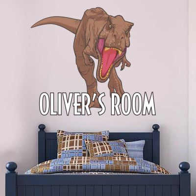 Jurassic World : Fallen Kingdom T-Rex Dinosaur Personalised Wall Sticker
