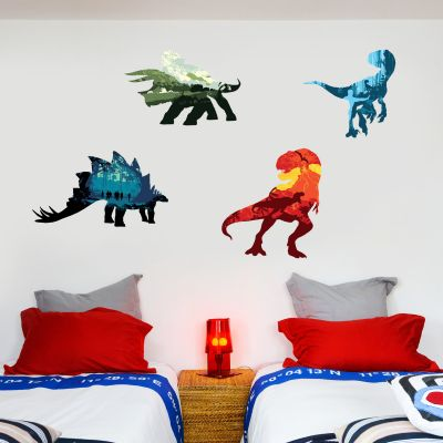 Jurassic World Dinosaur Decals Wall Sticker Set