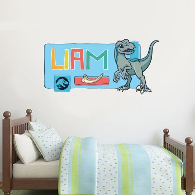 Jurassic World: Baby Blue Personalised Wall Sticker