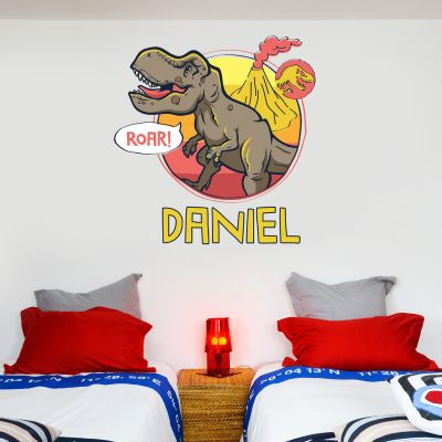 Jurassic World T- Rex Roar Personalised Wall Sticker