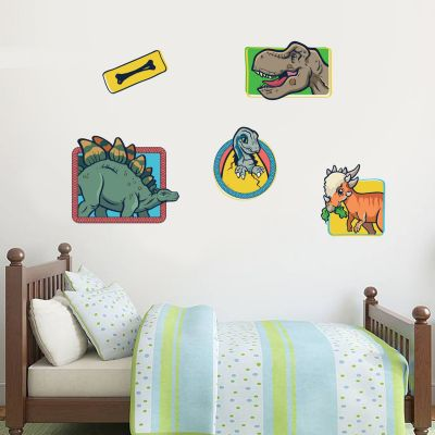 Jurassic World Childrens Dinosaur Wall Sticker Set