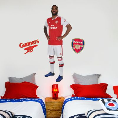 Arsenal FC - Alexandre Lacazette Player Decal + Gunners Wall Sticker Set