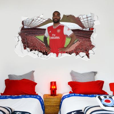 Arsenal Football Club - Alexandre Lacazette Smashed + Gunners Wall Sticker Set
