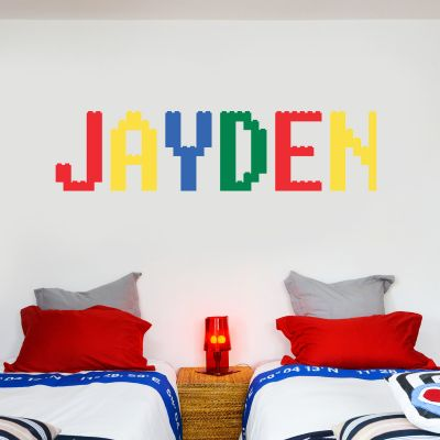 Building Block Personalised Name Wall Sticker
