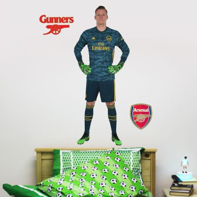 Arsenal FC - Bernd Leno Player Decal + Gunners Wall Sticker Set