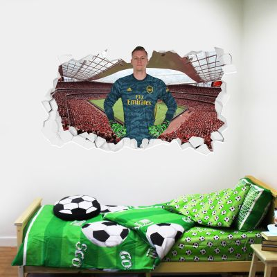 Arsenal Football Club - Bernd Leno Smashed + Gunners Wall Sticker Set