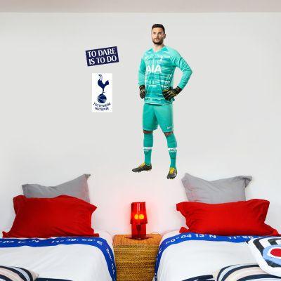 Tottenham Hotspur FC - Hugo Lloris Player Wall Mural + Spurs Wall Sticker Set