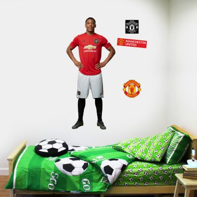 Manchester United F.C. - Anthony Martial Player Decal + Bonus Wall Sticker Set