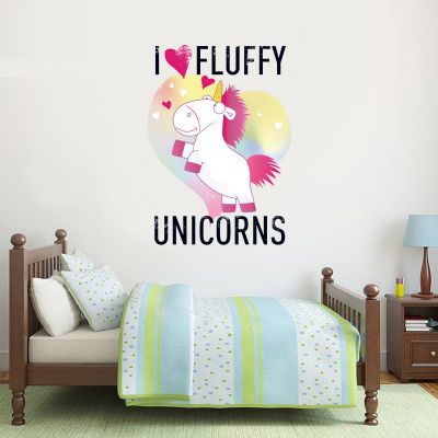 Despicable Me - I Love Fluffy Unicorns Wall Sticker