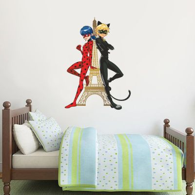 Miraculous - Ladybug and Cat Noir Eiffel Tower Wall Sticker