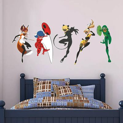 Miraculous - Superheroes Wall Stickers