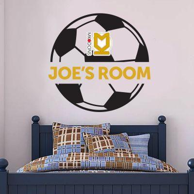 MK Dons - Ball & Personalised Name Mural