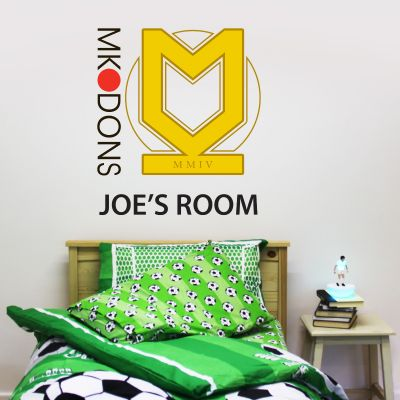 MK Dons - Personalised Name Crest Mural