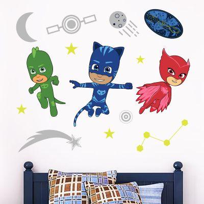 PJ Masks: Night Time Wall Sticker Set