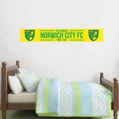 Norwich City FC - Bar Scarf Wall Sticker