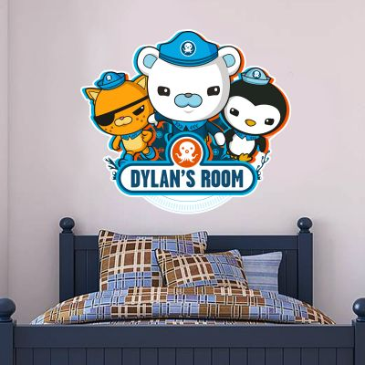 Octonauts 3 Characters Personalised Cut Out Wall Sticker Mural