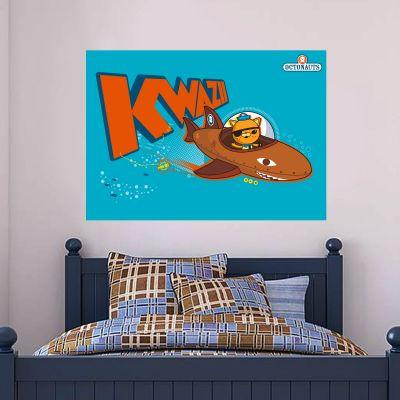 Official Octonauts Kwazii Kitten Shark GUP-B Wall Sticker Mural