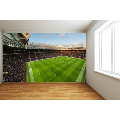 Manchester United Old Trafford Stadium Full Wall Mural - Panoramic VIew