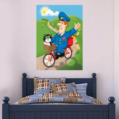 Postman Pat - Bike Poster Wall Sticker