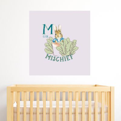 Peter Rabbit M Is For Mischief Wall Sticker Mural