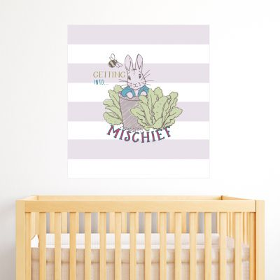 Peter Rabbit Getting Into Mischief Wall Sticker Mural