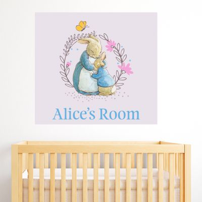 Peter Rabbit Josephine and Peter Rabbit Personalised Wall Sticker Mural