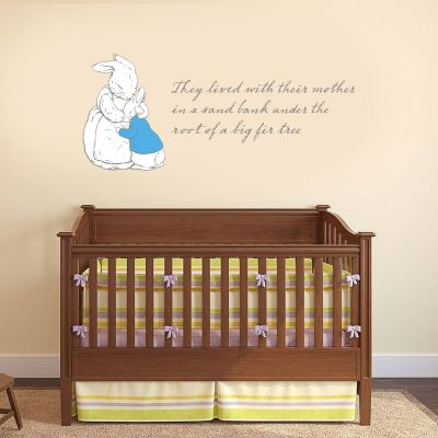 Peter Rabbit Under The Root Of A Big Fir Tree Wall Sticker Mural