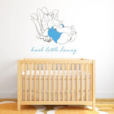 Peter Rabbit Hush Little Bunny Wall Sticker Mural