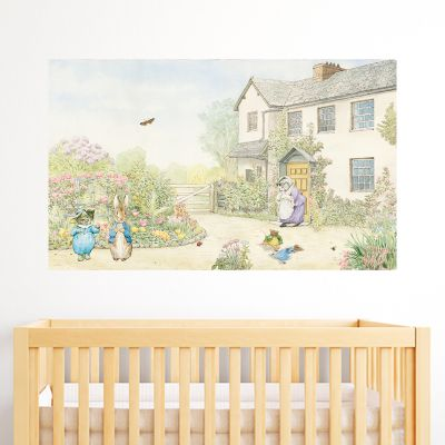 Peter Rabbit Country House Scene Wall Sticker Mural