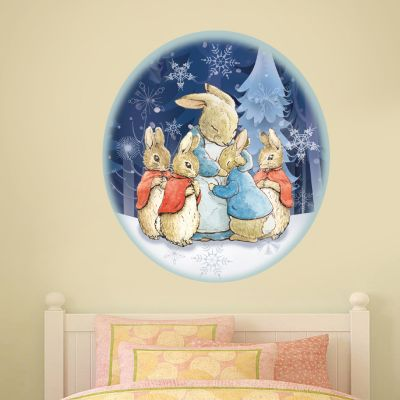 Peter Rabbit and Family Winter Themed Wall Sticker Mural