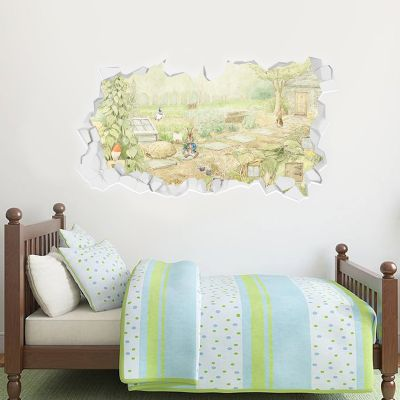 Peter Rabbit Smashed Garden Wall Sticker Mural