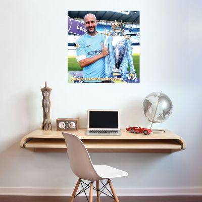 Premier League Champions 2018 - Pep Guardiola Trophy Shot Mural + Wall Sticker Set