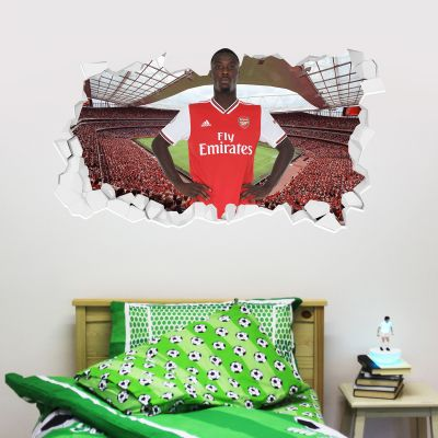 Arsenal Football Club - Nicolas Pépé Smashed + Gunners Wall Sticker Set