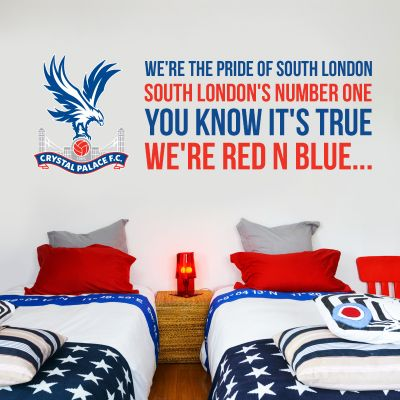 Crystal Palace F.C. - Crest & 'You Know It's True' Song Wall Sticker