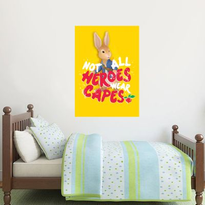 Peter Rabbit Not All Heroes Wear Capes Wall Sticker Mural