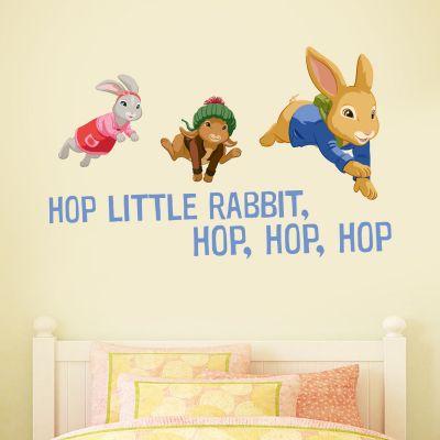 Hop Little Rabbit Hop Trio Wall Sticker Mural