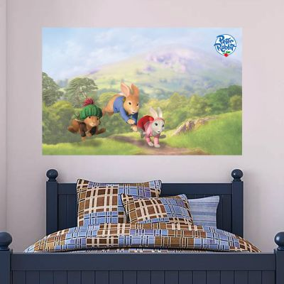 Peter, Benjamin and Lilly Racing Through The Countryside Wall Sticker Mural