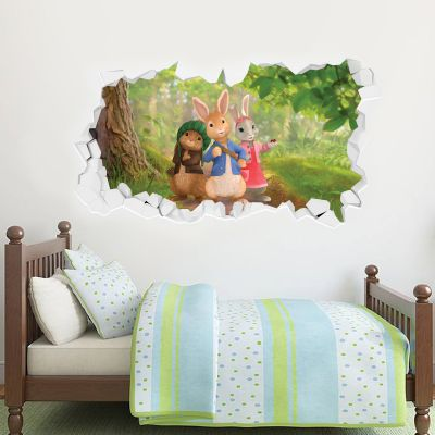 Peter Rabbit, Benjamin Bunny and Lily Bobtail Forest Adventure Smashed Wall Sticker Mural