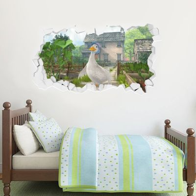 Jemima Puddle Duck Hill Top Farm Smashed Wall Sticker Mural