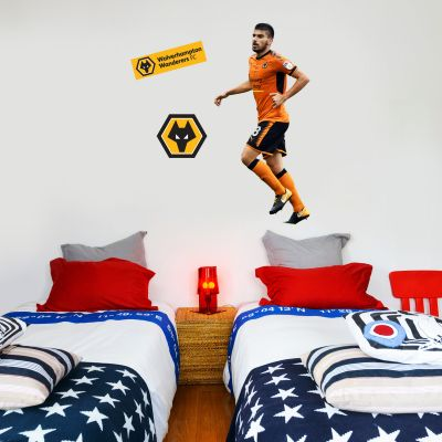Wolves F.C. - Rúben Neves Running Player Decal + Wolves Wall Sticker Set